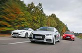 Audi TT vs Peugeot RCZ R vs Seat Leon Cupra