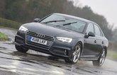 Audi A4 driving