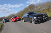 Mercedes CLS leading Audi A7 and BMW 6 Series GT