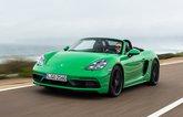 2020 Porsche 718 Boxster GTS front driving shot