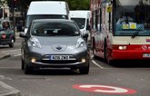 Nissan Leaf in the congestion charge zone