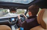 LT Volvo S60 - over-the-shoulder driving shot