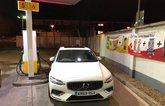 Volvo S60 fuel station