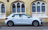 Audi A1 side - white 19-plate car
