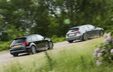 Audi A3 and Mercedes A-Class side