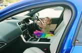 LT Jaguar XE - child playing in driving seat