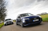 Audi RS6 Avant vs Mercedes-AMG E63 S Estate closer