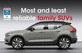 Most and least reliable family SUVs