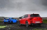 New Volkswagen GTI vs Honda Civic Type R rears