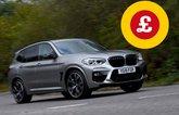 BMW X3 with Target Price logo