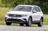 2021 VW Tiguan eHybrid front three quarter