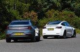 Polestar 2 vs Tesla Model 3 rears