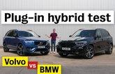 BMW X5 xDrive45e vs Volvo XC90 T8 video review