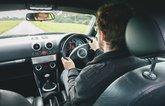 Audi TT behind the wheel