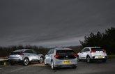 Citroen e-C4 vs Kia e-Niro vs Volkswagen ID.3 rear
