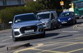 Audi Q5 waiting at junction