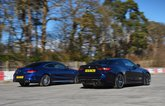 BMW M4 vs Mercedes-AMG C63 S Coupe rears