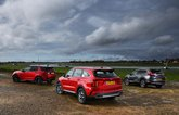New Kia Sorento and Land Rover Discovery Sport vs Honda CR-V rears