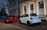 Fiat 500 vs Peugeot e-208 rears