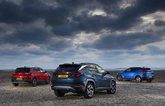 Hyundai Tucson vs Vauxhall Grandland X vs Volvo XC40 rears