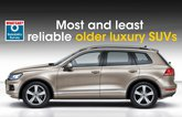 Most and least reliable older luxury SUVs
