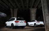 BMW iX3 vs Jaguar I-Pace rears
