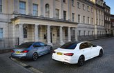 BMW 530e vs Mercedes E300e rears