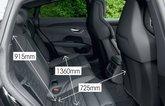 Audi E-tron GT 2021 rear seats