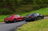 Audi E-tron GT vs Porsche Taycan rears