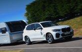 BMW X5 towing a caravan