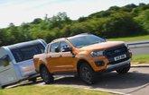 Ford Ranger towing a caravan