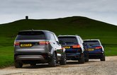 New Land Rover Discovery vs Audi Q7 vs BMW X7 rears