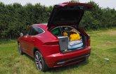 Jaguar E-Pace packed up, rear shot