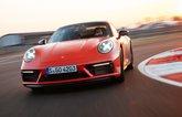 2022 Porsche 911 GTS cornering