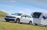 Volkswagen Passat Estate towing a caravan