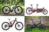 4 different E–bikes