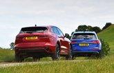 Jaguar F-Pace vs Audi Q5 2021 rears