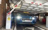 LT Audi E-tron Sportback exiting car park
