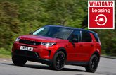 Land Rover Discovery Sport with leasing logo