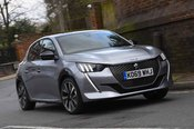 Peugeot e-208 2020 RHD front right tracking