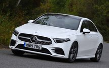 Mercedes A Class Saloon front left cornering