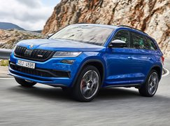 2019 Skoda Kodiaq vRS front three quarter