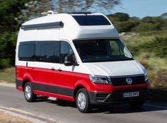 Volkswagen Grand California 2019 front tracking shot
