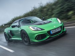 Lotus Exige 2020 RHD front right tracking