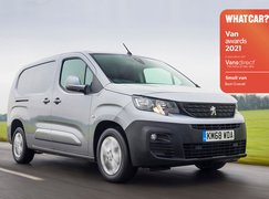 Peugeot Partner with Van Awards logo