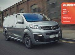 Vauxhall Vivaro-e with Van Awards logo