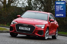 Electric Car of the Year Awards 2021 - Audi A3 40 TFSIe with badge