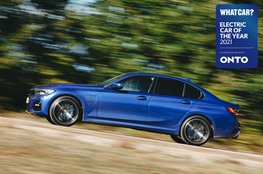 Electric Car of the Year Awards 2021 - BMW 330e with badge
