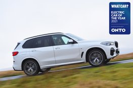 Electric Car of the Year Awards 2021 - BMW X5 xDrive45e with badge