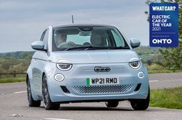 Electric Car of the Year Awards 2021 - Fiat 500 with badge